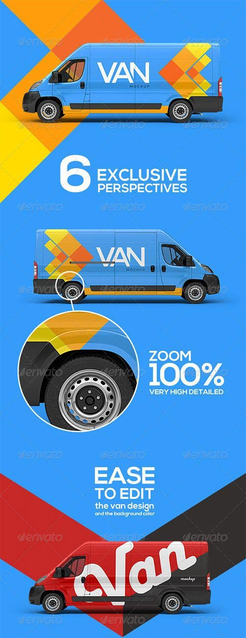 GraphicRiver - Van Mockup 6992810
