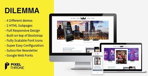 ThemeForest - Dilemma v1.2.2 - WordPress Multi-Purpose Landing Page