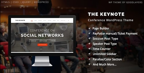ThemeForest - The Keynote v1.01 - Conference / Event / Meeting WordPress Theme