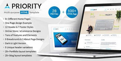 ThemeForest - Priority v1.7 - Multipurpose HTML5 Template