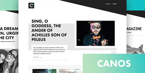ThemeForest - Canos v1.2 - A Creative WordPress Blog Theme
