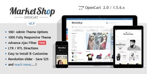 ThemeForest - MarketShop v2.3 - Multi-Purpose OpenCart Theme