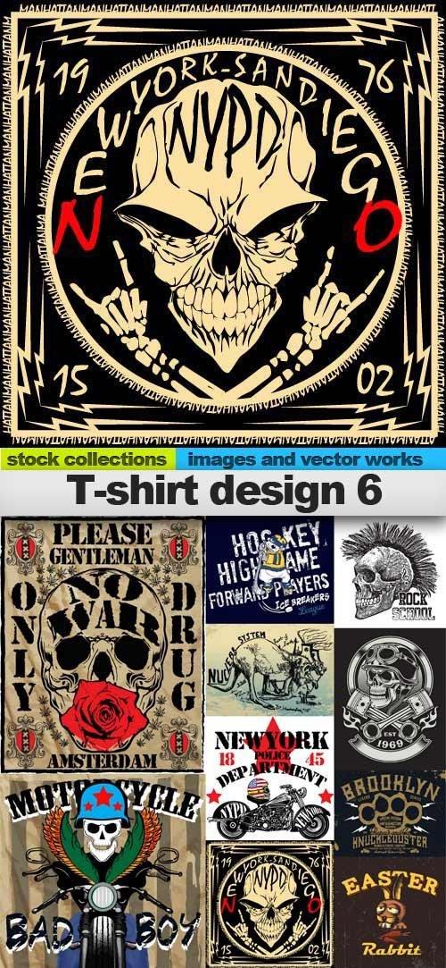 T-shirt design 6, 25 x EPS