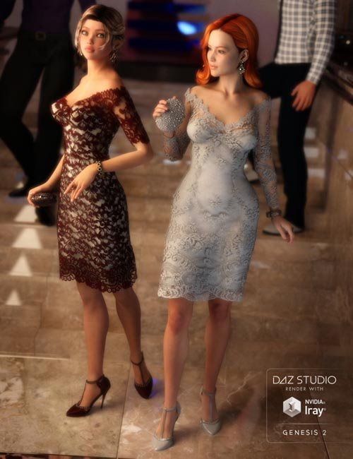 Luxury Lace Cocktail Dress II