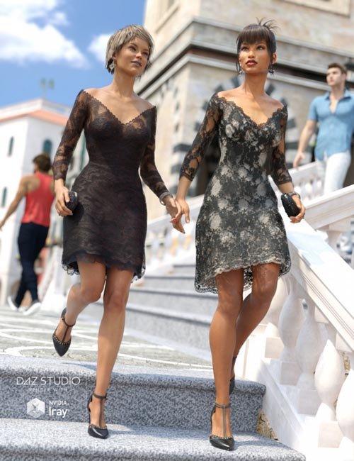 Luxury Lace Cocktail Dress I