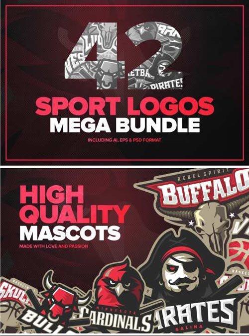42 Sport logos MEGA BUNDLE - 290082