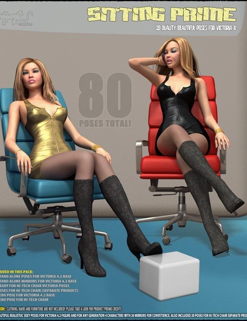 Sitting Prime - Poses for V4