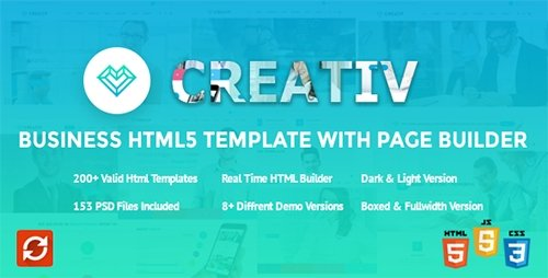 ThemeForest - Creativ v2.0 - Business HTML5 Template with Page Builder