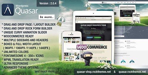 ThemeForest - Quasar v2.0.4 - Wordpress Theme with Animation Builder