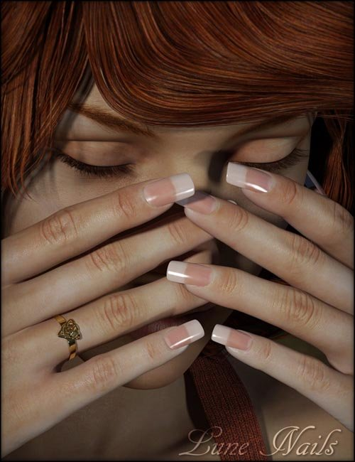 Lune Nails for Genesis 3 Female(s)
