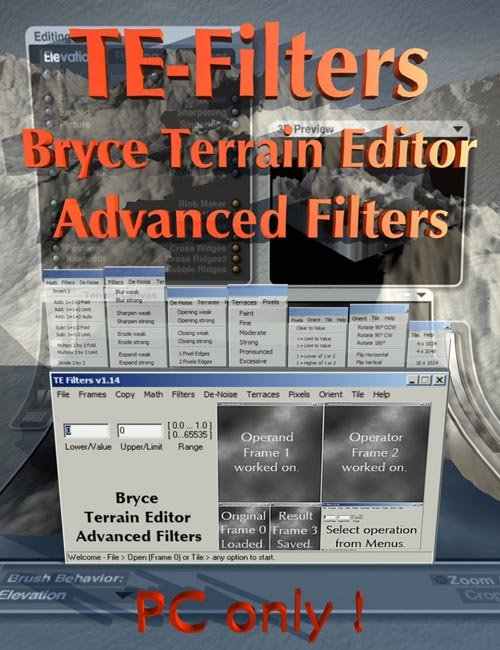 Bryce Terrain Editor Advanced Filters
