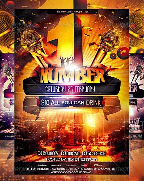 GraphicRiver - NumberOne Party Flyer Template