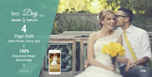 ThemeForest - Best Day v1.4 - Responsive One-Page Wedding Template - FULL