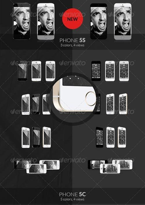 GraphicRiver - iCups - 100 3D & Flat Responsive Screen Mockups