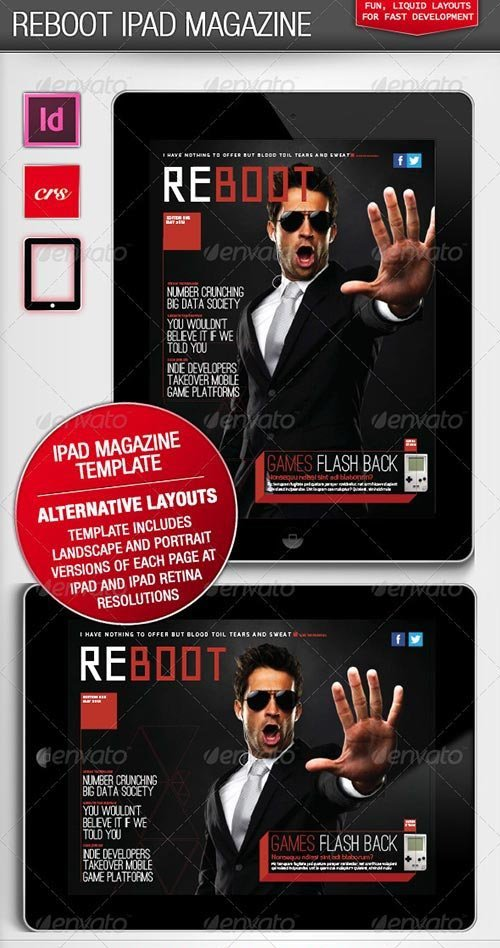GraphicRiver - Reboot iPad Magazine