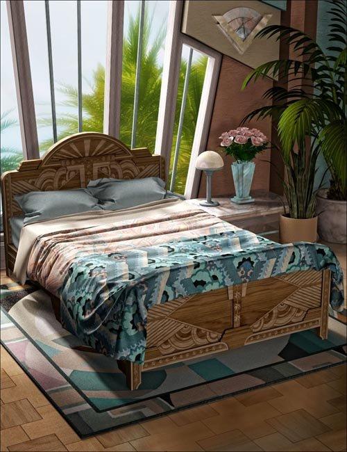 South Beach Deco 4 - Beds