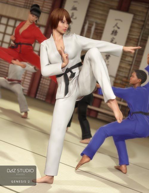 Fight Uniform for Genesis 2 Female(s)