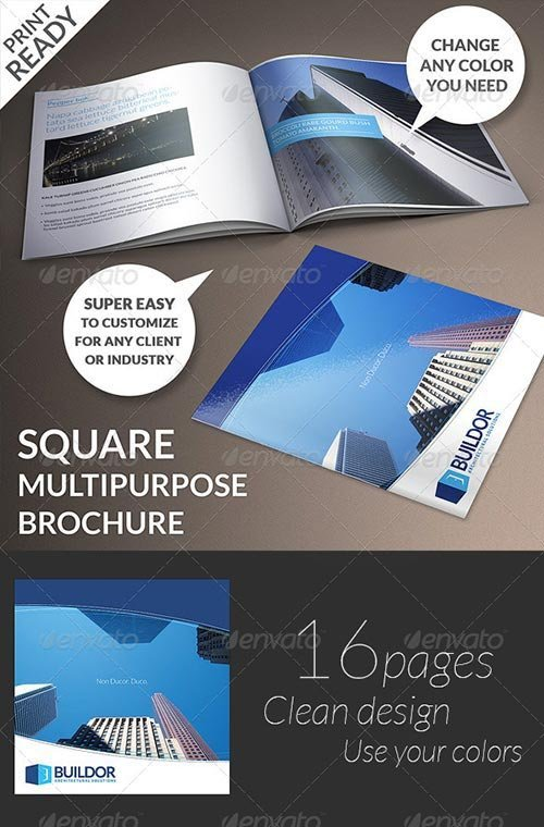 GraphicRiver - Square Multipurpose Brochure 6261834