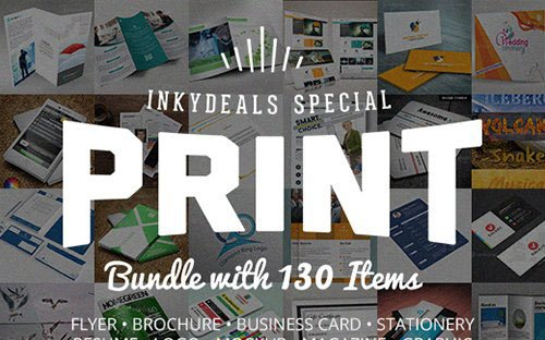 The Ultimate Print Templates Bundle with 130 Items