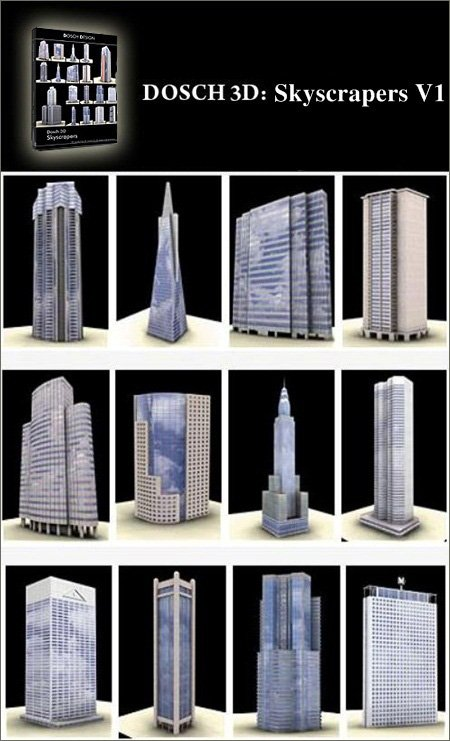 DOSCH DESIGN 3D Skyscrapers V1