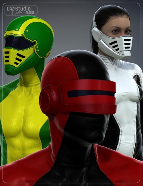 Sci-Fi Helmet Kit for Genesis 2 Male(s) and Genesis 2 Female(s)