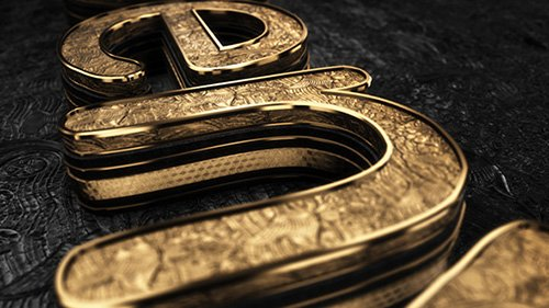 Black Gold Logo V3 - Project for After Effects (Videohive)