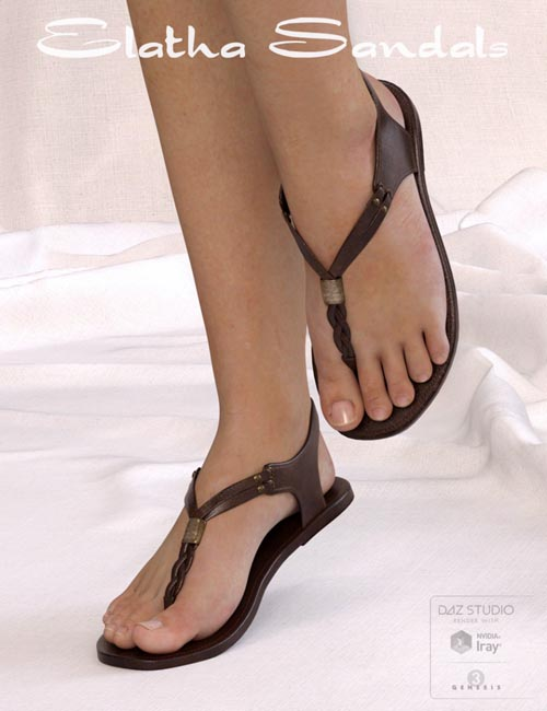DM's Elatha Sandals for Genesis 3 Female(s)