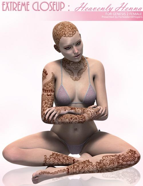 Extreme Closeup: Heavenly Henna for Genesis 2 Female(s)