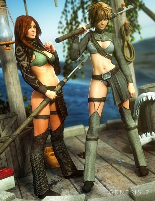 Harpoon Girl Outfit Textures