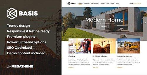 ThemeForest - Basis v1.0 - Construction Business WordPress Theme