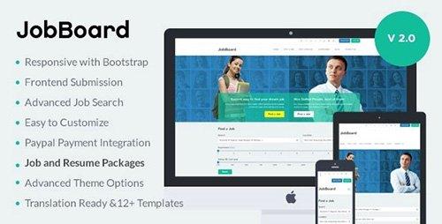 ThemeForest - JobBoard v2.0.3 - Responsive Job & Resume Market WordPress Theme