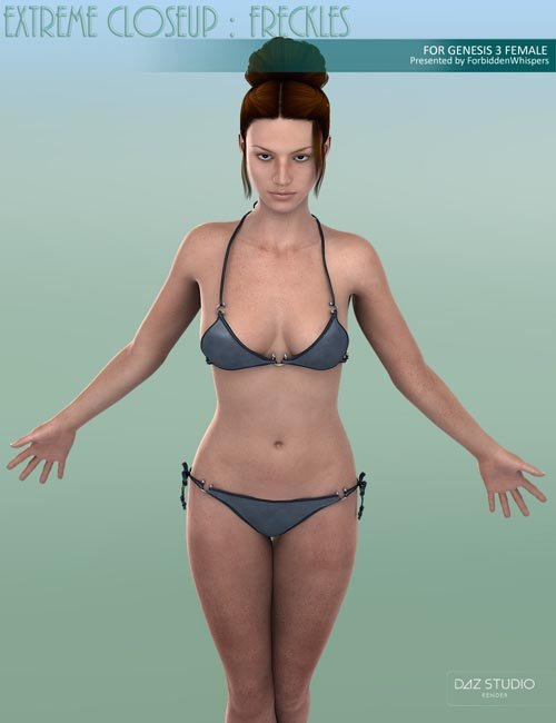 Extreme Closeup: Freckles for Genesis 3 Female(s)