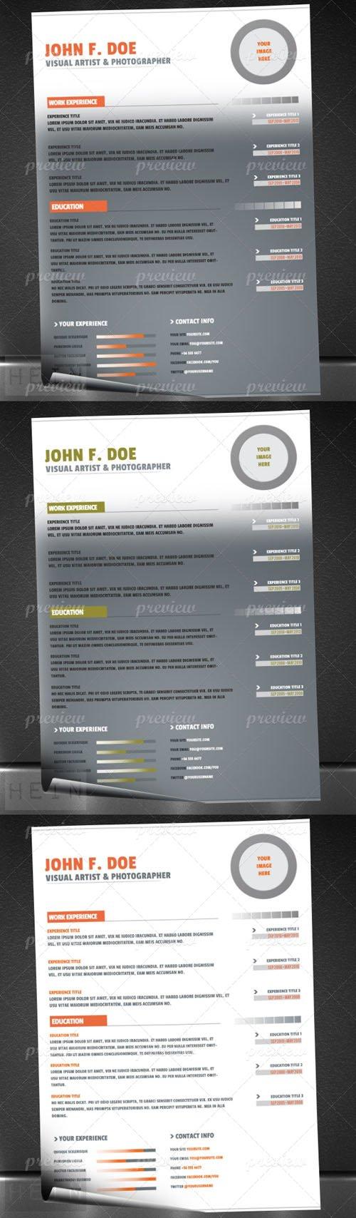 Minimal Resume or CV bundle
