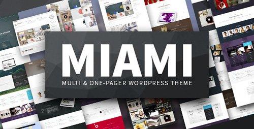 ThemeForest - Miami v1.4.3 - Multi & One Page WordPress Theme