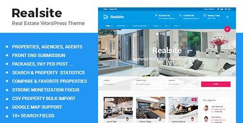 ThemeForest - Realsite v1.6.4 - Material Real Estate WordPress Theme