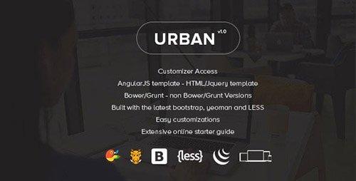 ThemeForest - Urban v1.3.0 - Responsive Admin Template + Customizer Access