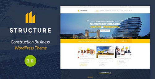 ThemeForest - Structure v3.0 - Construction WordPress Theme