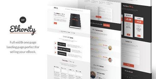 ThemeForest - Ethority v1.2.2 - One Page eBook Landing