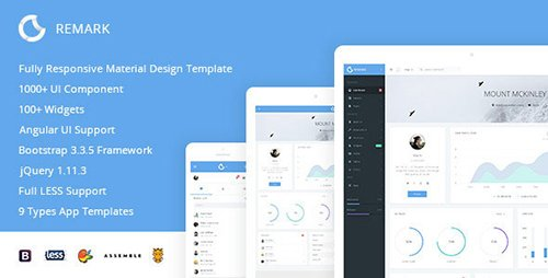 ThemeForest - Remark v1.0.1 - Responsive Bootstrap Admin Template