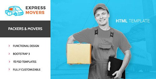 ThemeForest - Express Movers v1.0 - Moving Company HTML Template