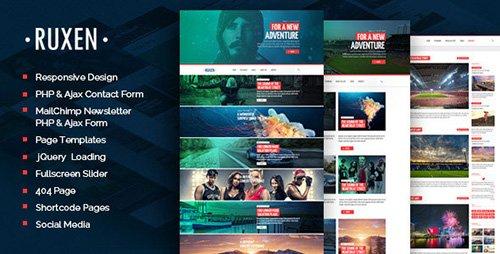 ThemeForest - Ruxen v1.0 - Responsive Blog & Magazine HTML Template
