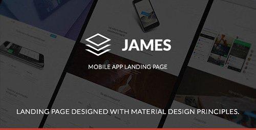ThemeForest - James v1.0 - Material Design Mobile App Landing Page