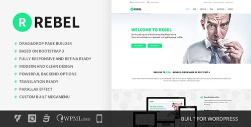 ThemeForest - Rebel v1.8.1 - WordPress Business Bootstrap Theme