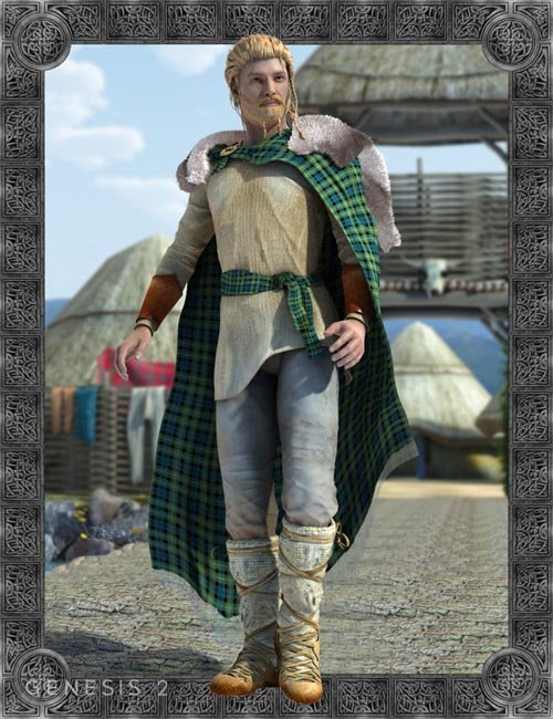 Celtic Fionn Outfit for Genesis 2 Male(s)