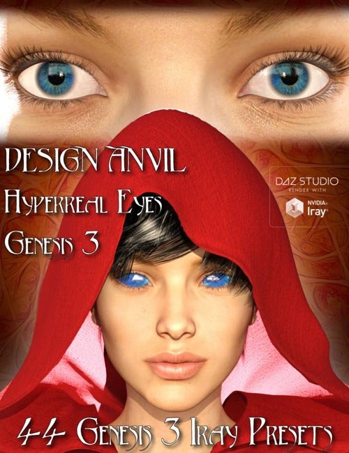 DA Hyperreal Eyes for Genesis 3 Female(s)