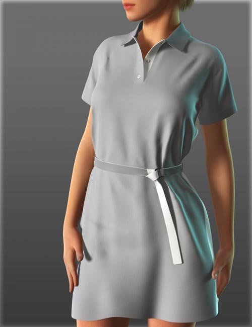 Short Sleeve Shirt Dresses for Genesis 2 Female(s)