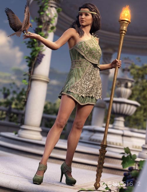 Greek Chic Outfit for Genesis 2 Female(s)