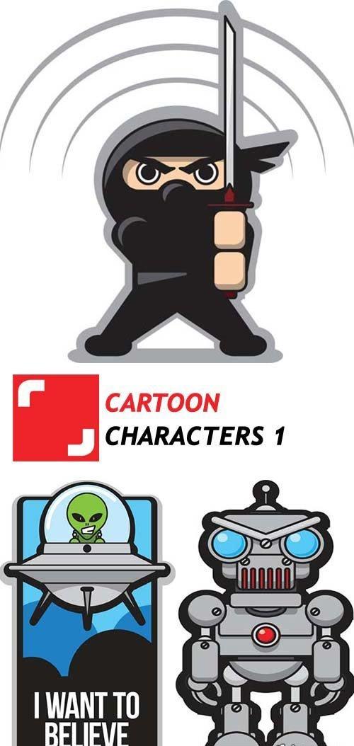 Cartoon Characters - 1 - 6xEPS