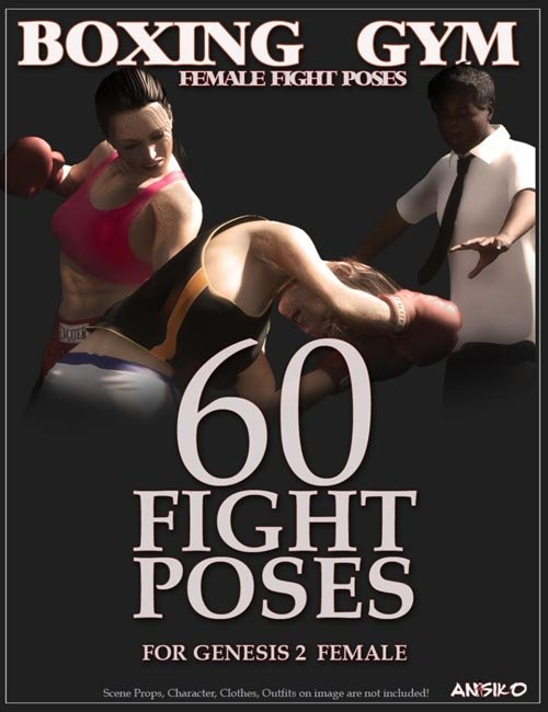 Boxing Gym Female Fight Poses [ Genesis 3 & 8 Female(s) UPDATE ]