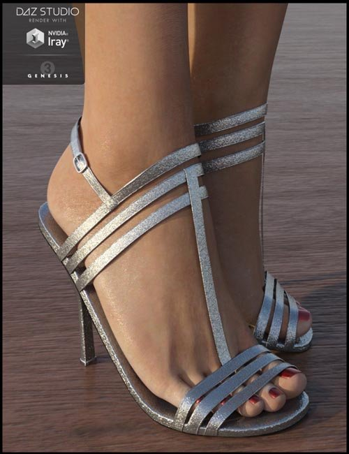 Strappy Sandal Heels for Genesis 3 Female(s)